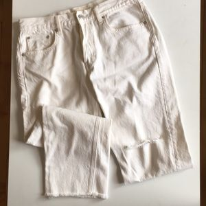 Vintage straight cropped off white jeans Gap, 29